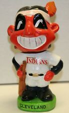 RARE 1960's Cleveland Indians Mascot Green Base Vintage Bobble Head Nodder
