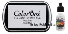 Colorbox Pigment Ink Pad + Refill Frost White Acid-Free 15080 14080