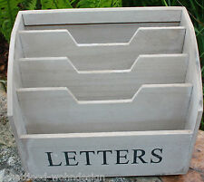 Desk Organiser Letter Tray Magazine File Mail Collector Ablagebox Wooden Box