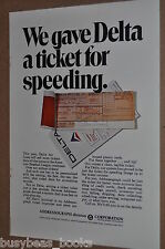 1969 Addressograph Multigraph Corp advertisement, Delta Air Lines flight ticket
