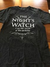 The Night's Watch T shirt Size Large Game of Thrones