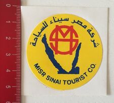 Aufkleber/Sticker: MISR SINAI TOURIST CO. (19031614)