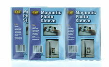 "Lot of 6 Magnetic 4"" x 6"" Photo Sleeves Insert Picture Reusable Holder"