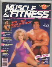 MUSCLE & FITNESS bodybuilding magazine/LOU FERRIGNO and BETTY WEIDER 1-86