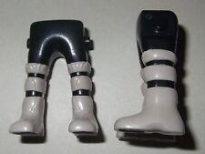 16365 Piernas negras botas piel gris claro 2u playmobil,leg,galo,vikingo,viking