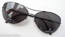 Rodenstock Luxus Sonnenbrille schwarz nur Oberrand Metall hochwertig GR.M UV400