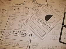 252 Printed Science Worksheets.  Solar system, bones, weather, electricity, eart