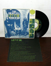 "LET IT BE + TESTO  ITALY 1970 THE  BEATLES 7"" YOU KNOW MY NAME APPLE QMSP16467"