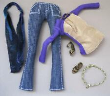 NEW Hannah Montana Doll Miley Cyrus Clothes DRESS POP STAR JEANS PURPLE/GOLD TOP