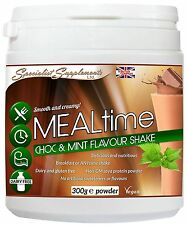 MEALtime Chocolate & Mint Shake Meal Replacement Dairy Free Protein Powder 300g