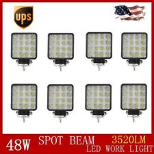 8X 48W SPOT Bean 12V 24V LED Work Light Lamp Tractor Truck Off-road Jeep SUV UTE