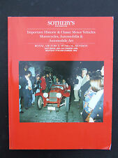 SOTHEBY'S IMPORTANT HISTORIC & CLASSIC MOTOR VEHICLES MOTORCYCLES AUCTION 1994