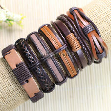 6pcs Bracelet Men Leather, Genuine Leather Bracelet, Mens Wrist Bands-D6