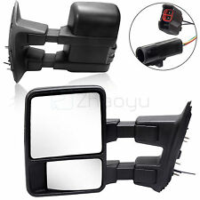 For 99-02 Ford Super Duty Side Mirror Power Heated NO-Signal Towing Mirrors PAIR