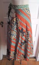 NWT Earthbound Trading Co. 100% Silk Wrap Long Maxi Sarong Skirt Womens One Size