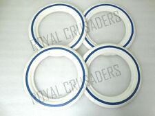 NEW VESPA WHITE WALLS 8'' 4 PIECES FOR 2 TYRES 3.50X8 SIZE BLUE LINED