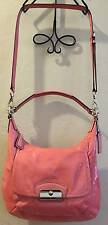 COACH KRISTIN SHOULDER CROSS-BODY BAG PINK ROSE (19299) PATENT LEATHER!