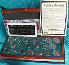 Antigua Ruta de Seda civilizaciones 20 Moneda De Bronce, Colección Royal Mint (con certificado de autenticidad)