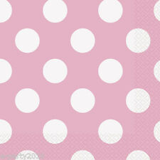 LOVELY PINK POLKA DOTS LUNCH NAPKINS (16) ~ Baby Shower Bridal Party Supplies