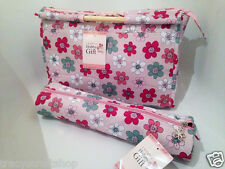 Knitting Bag Sewing Bag with Matching Needle Holder 100% cotton Summer Floral