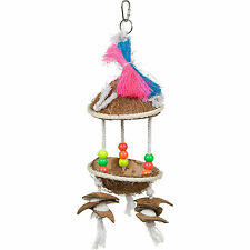 Prevue Pet Products Tropical Teasers Tiki Hut Bird Toy Free Shipping