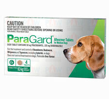 Paragard GREEN for Dogs 10kg Broad Spectrum All Wormer Oral Tablets - 4 PACK