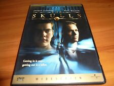The Skulls (DVD, 2000, Collector's Edition) Joshua Jackson, Paul Walker Used