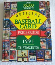 Official Baseball Card Price Guide, 1991 (1991, Hardcover)