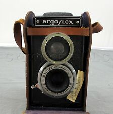 Argus Argoflex E 75mm Lens Box Camera with Leather Cowhide Case - Made in USA