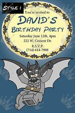 Batman Birthday Party Invite Template DIY (pick from three templates)