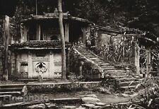 1906 Vintage CHINA Kuanhien Kuanyin Grotto Architecture Photo Art By BOERSCHMAN