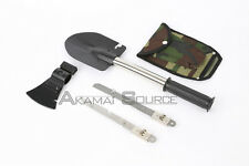 Ultimate Survival Knife Shovel Axe Emergency Camping & Hiking Gear Kit Tools