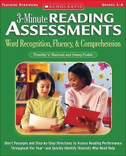 3-Minute Reading Assessments: Grades 1-4: Word Recognition, Fluency, & Compr