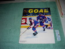 NHL GOAL PROGRAM FEBRUARY 1989 BUFFALO SABRES VS WINNIPEG JETS MAGAZINE