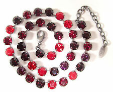 SoHo® Collier mit geschliffenen Kristallen multicolor rot siam mix rottöne red