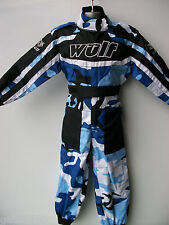NEW AGE 7-8 BLUE WULFSPORT BOYS KIDS OFF ROAD OUTDOOR PLAY SUIT QUAD OVERALLS
