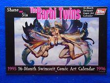 THE BARBIE TWINS 1995-96 19 MONTH CALENDAR ~TOPPS COMICS ~JULIE BELL, LINSNER