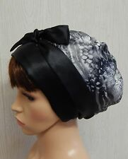 Satin sleeping bonnet, women's head scarf, silky head wear, Jewish tichel scarf