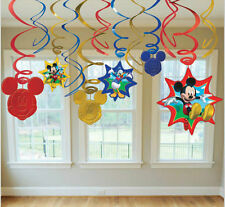 Disney's MICKEY MOUSE Dangling Swirls Decorations Birthday Party Supplies Favors