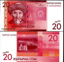 KYRGYZSTAN 20 SOM ND 2009 P 24 UNC