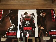 Django Unchained Original Movie Poster 27x40 Double Sided Lot Of 3 2013