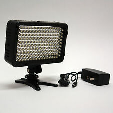 Pro 4K AC/DC on camera LED video light panel for Panasonic AC130A AC160A HD