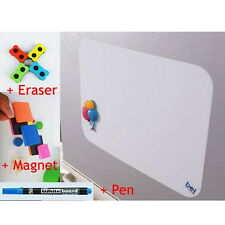 A4 Flexible Fridge Magnetic Whiteboard Memo Reminder Board Pen Eraser Magnet
