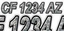 Digital Camo Boat Registration Numbers or PWC Decals Stickers Graphics CF, NV AZ