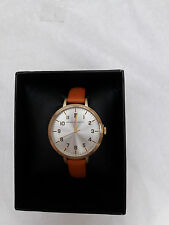 French Connection Ladies Camel Leather Strap Watch FC1248T