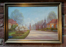 Frederiksberg Have Copenhagen. Original Oil painting sign A. MAEY 1936