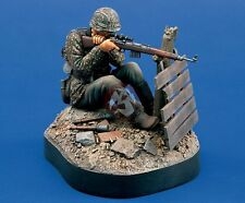 Verlinden 120mm (1/16) German Waffen-SS Sniper WWII Vignette with Base 796