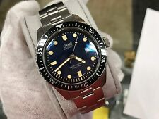 ORIS Divers Sixty-Five Blue Dial 42mm Stainless Steel Automatic Watch w/ Receipt