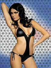 Obsessive Obsydian Teddy Body Black Latex Lingerie Womens Underwear Wet Look New