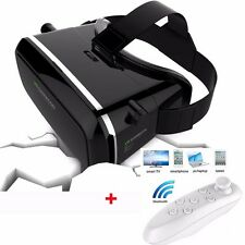 3D Virtual Reality VR Glasses for 3.5-6'' SAMSUNG Iphone + Bluetooth Gamepad UK